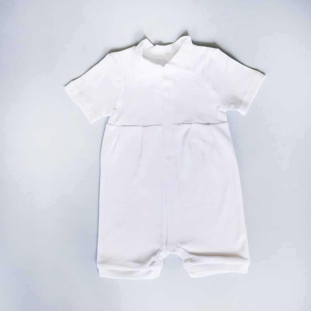 Baby Boy Clothes. Boy Baptism Romper - Baptism Outfit
