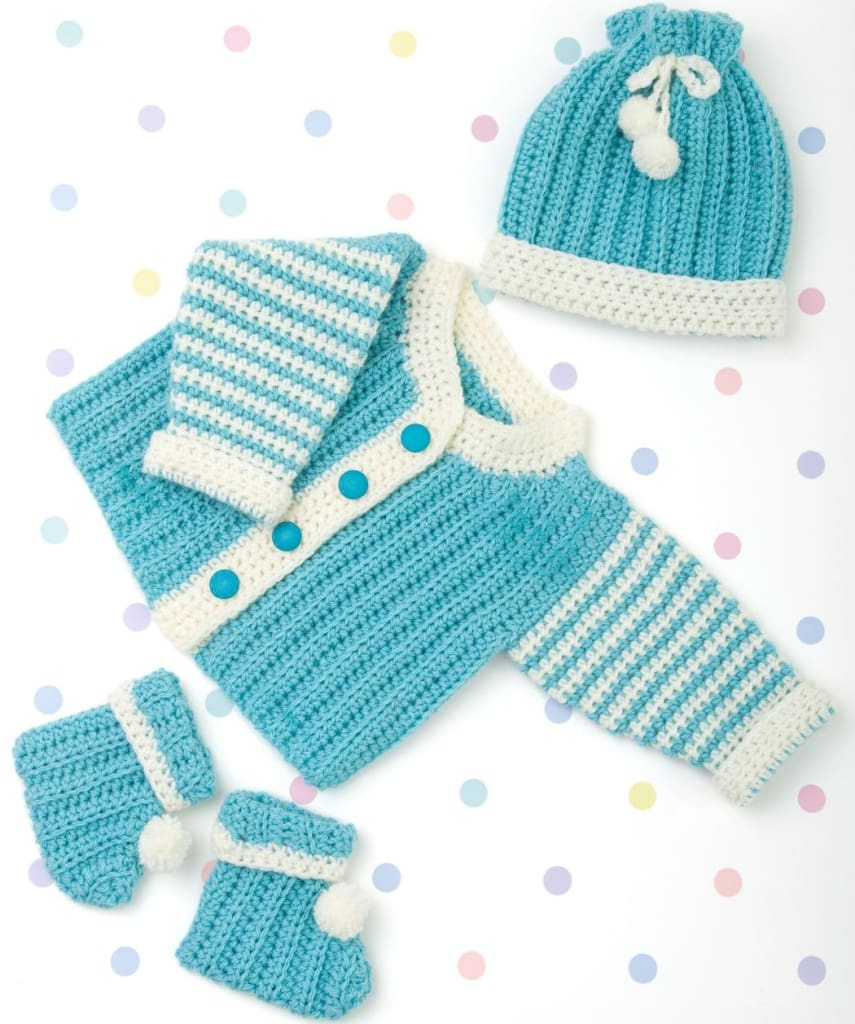 Baby Boy Crochet Outfits Turquoise Ts