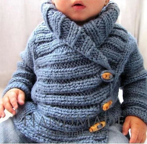 Baby Boy Knitted Cardigan - Baby Clothes