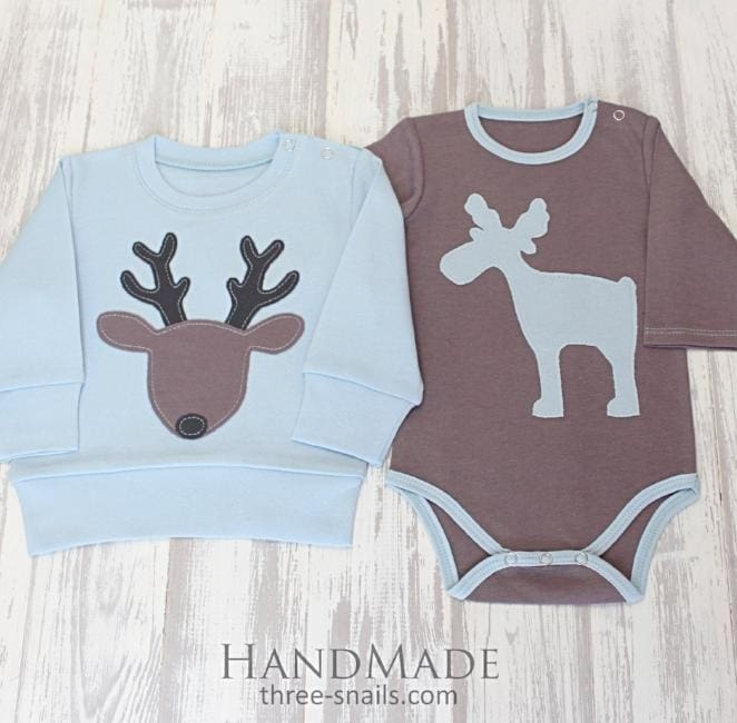 Baby Boy Outfits Moose Bullwinkle - Baby Clothes