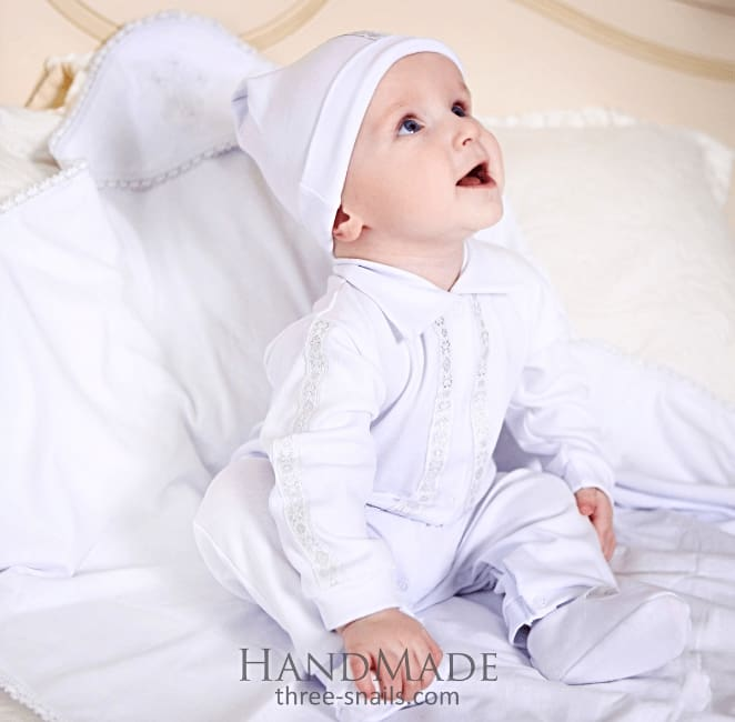 Baby clothes. Baptism boy outfit - 1