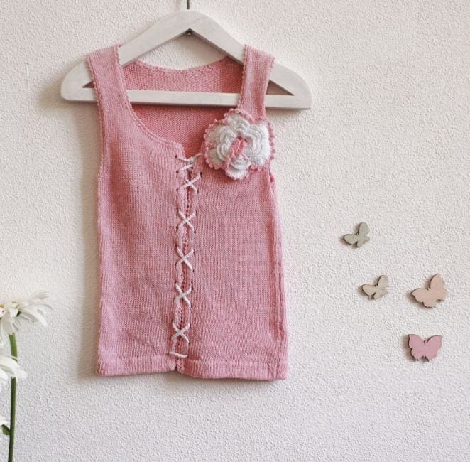 Baby Crochet Top Lilac - Baby Clothes