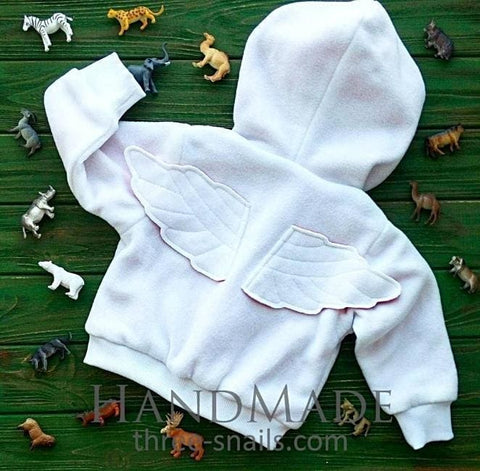 Baby Fleece Jacket White Angel - Baby Clothes