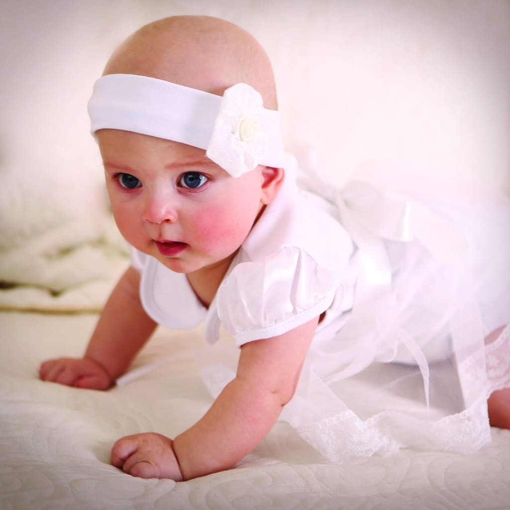 Baby Girl Baptism Dress «Sunny» - Baptism Outfit