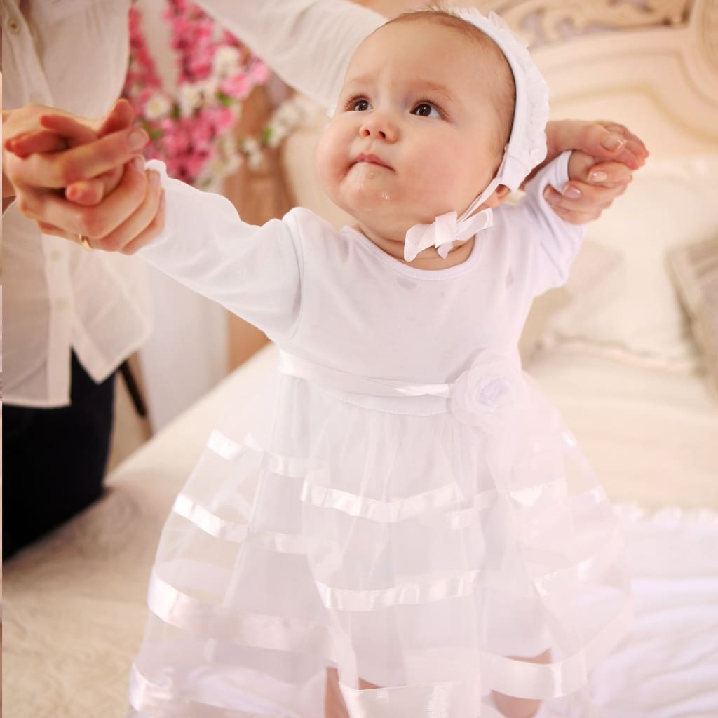 Baby Girl Baptismal Dress «Small Lady» - Baptism Outfit