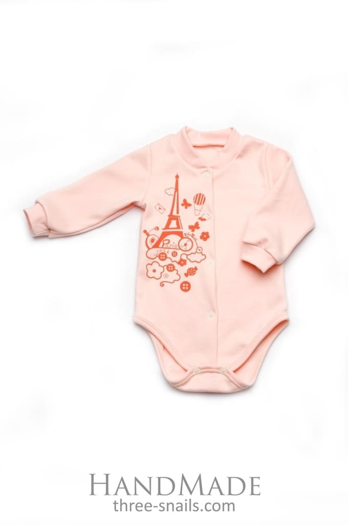 Baby Girl Long Sleeve Body Suit - Baby Clothes