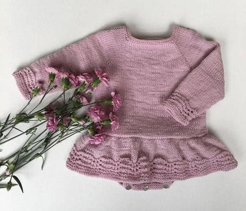 Baby Girl Pink Bodysuit Dress - Baby Clothes
