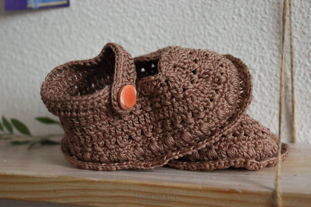 Baby Knitted Booties Lace  - Booties