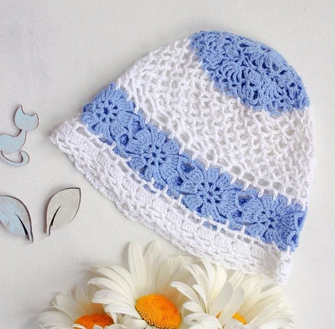 Baby Knitted Hat Daisy - Baby Clothes
