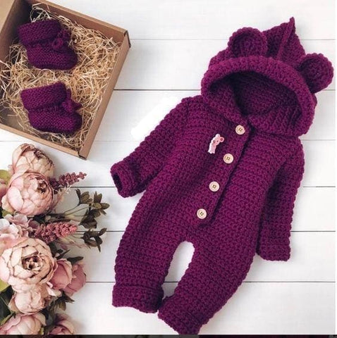 Baby Knitted Rompers - Baby Clothes