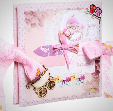 Baby Photo Album Book Pink Story - Toy