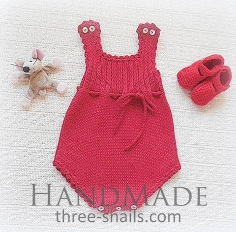 Baby Red Body Outfit - Baby Clothes