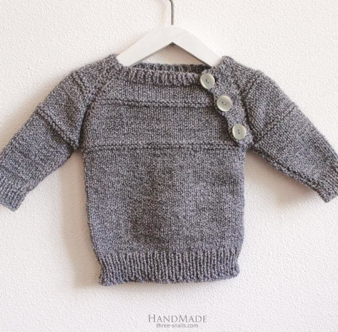 Baby wool sweater - 1