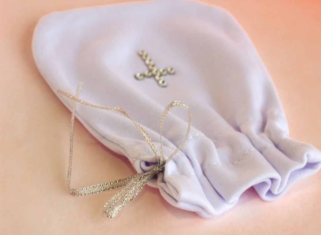 Bag For Hair With Rhinestones - Baptism Accessory