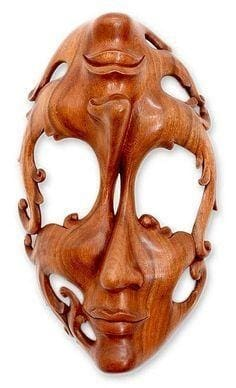 Balinese Hand Carving Wooden Mask - Mask