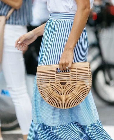 Bamboo Wooden Clutch Bag - Clutch