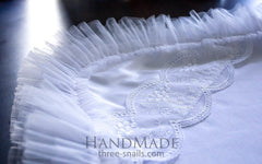 Baptism Blanket With Tulle - Baptism Blanket