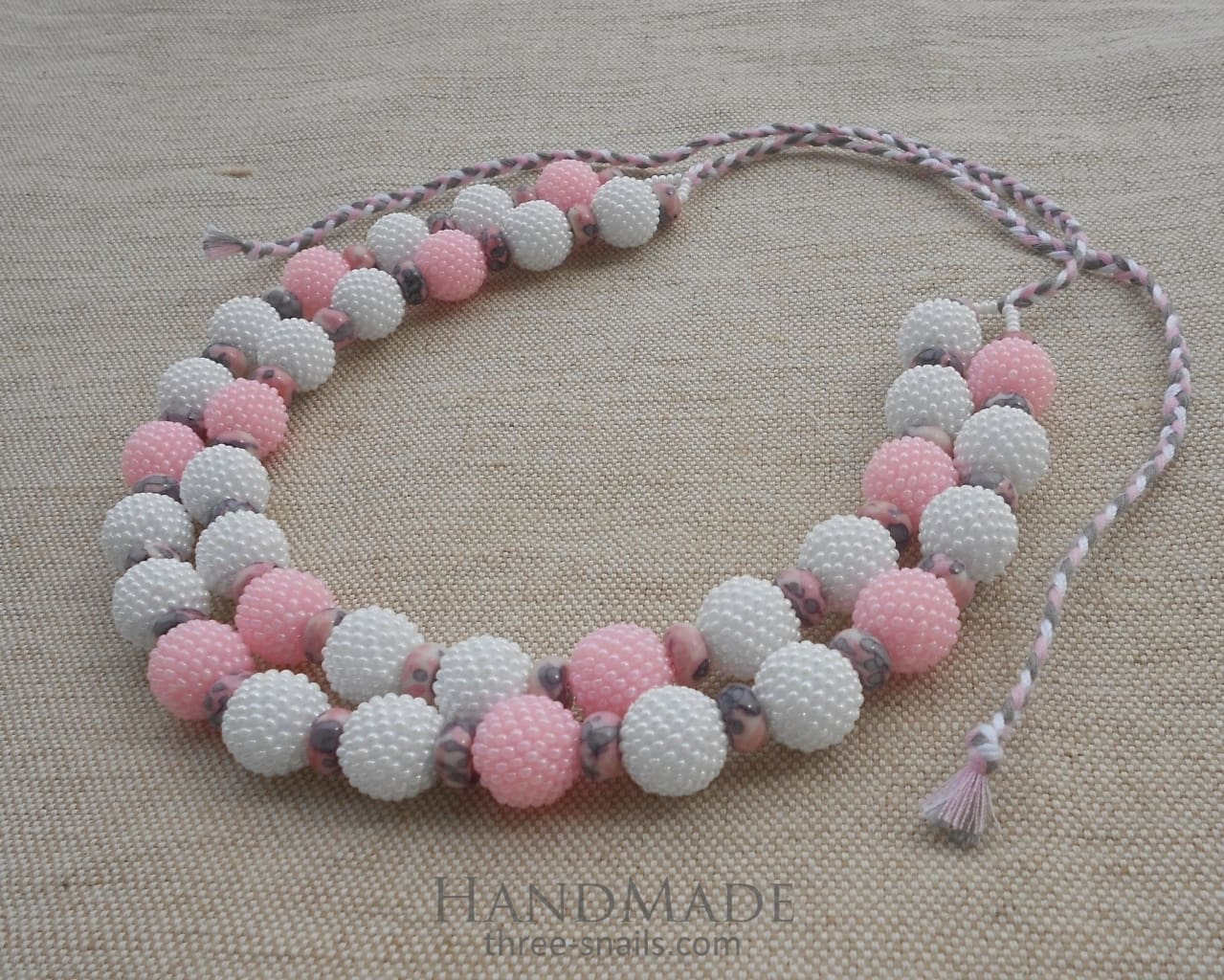 cute bead necklace