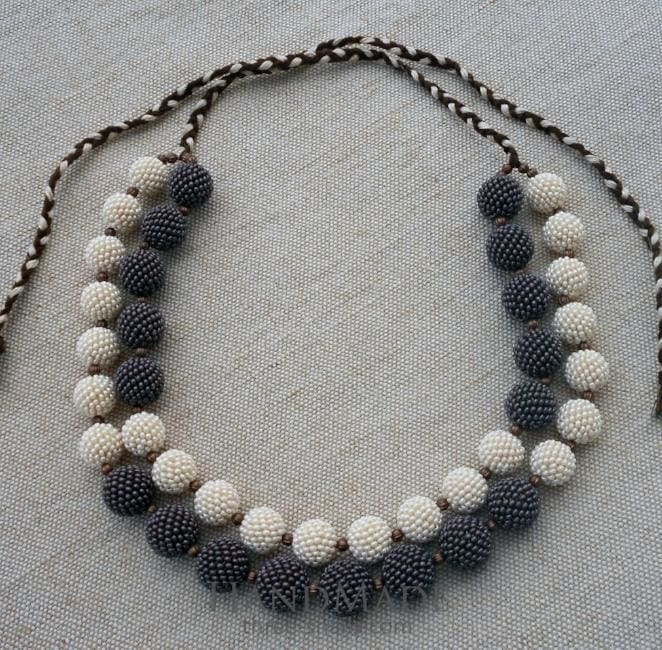 hand crafted bead necklace