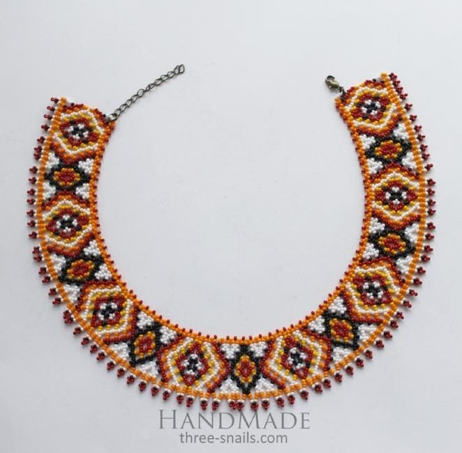handmade pattern necklace