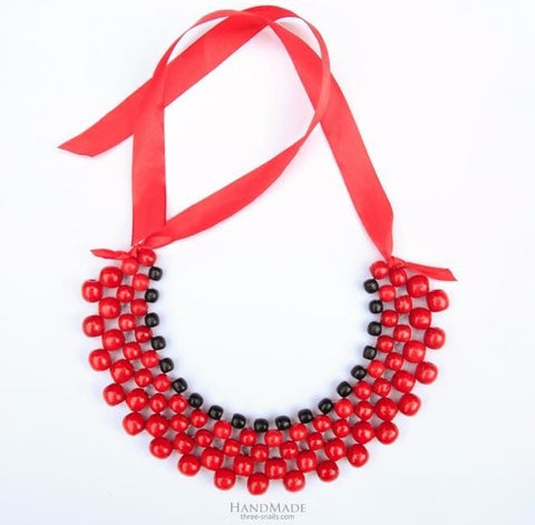 Bead Necklaces Red Berries - Vasylchenko1