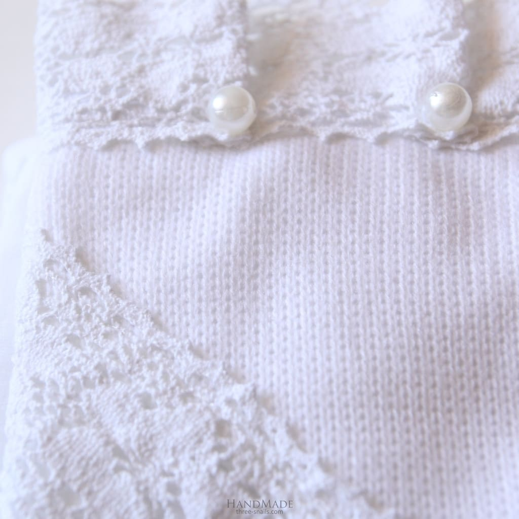 Beaded Blanket For Christening - Baptism Blanket