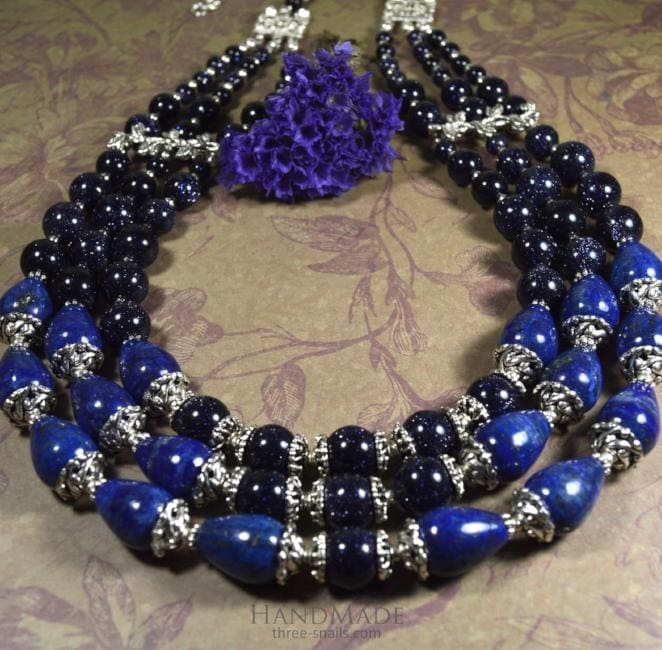 "Beaded necklace ""Cairo night"" - 1"