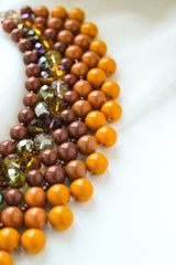 Beaded Necklace Colorful Autumn - Vasylchenko1