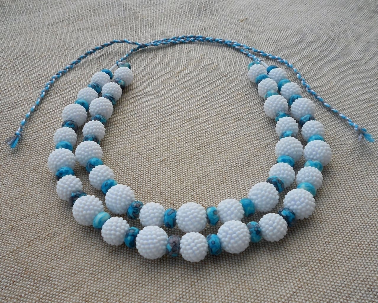 ceramic beaded necklace