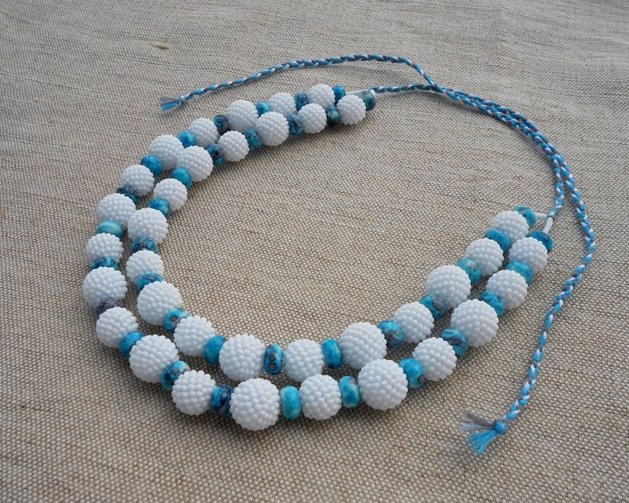 "Beaded necklace ""Dream of sea"" - 1"