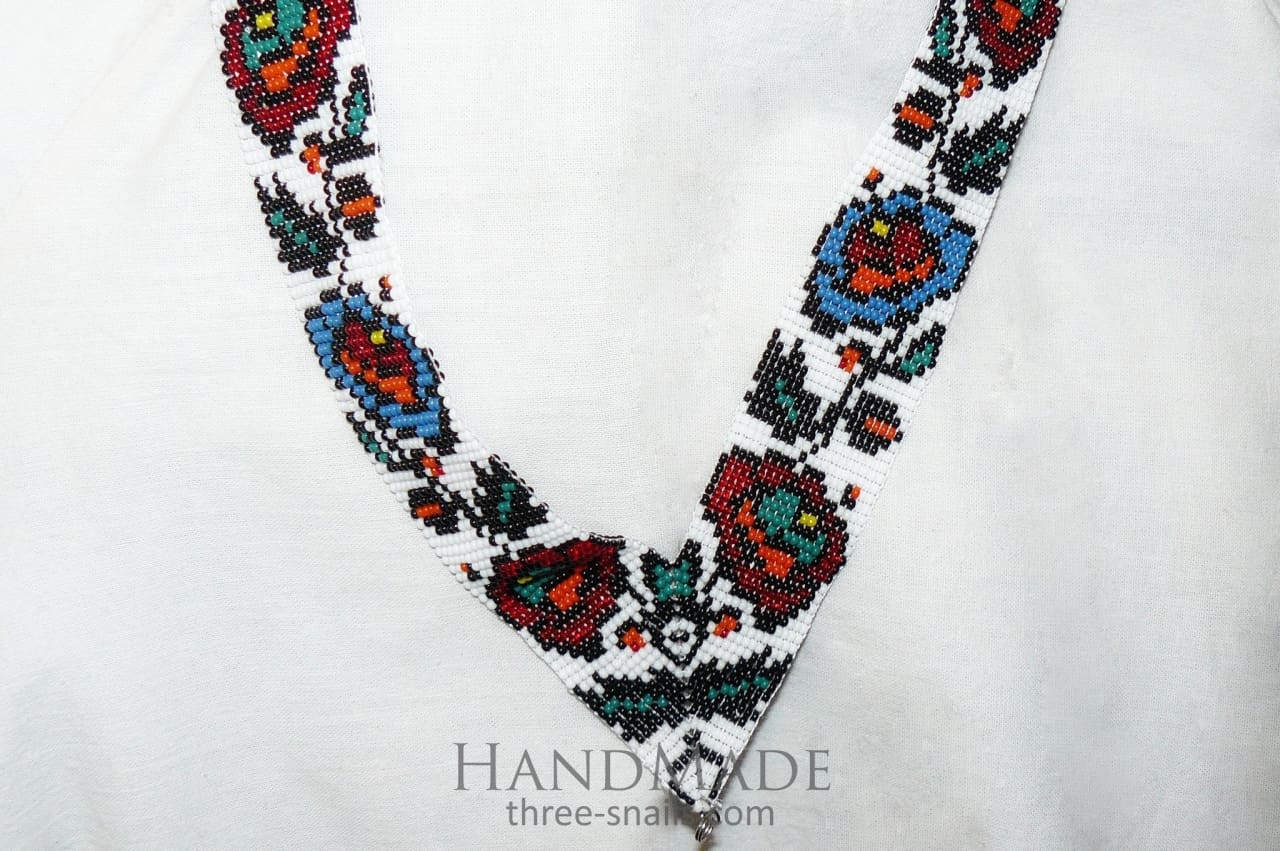 Beaded Necklace (Gerdan) Spring Bouquet - Melnichenko1