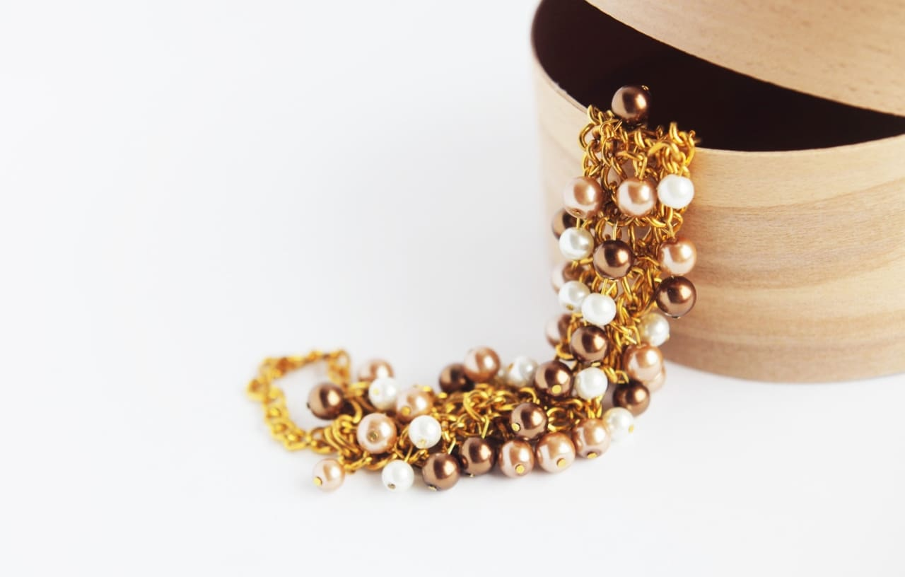 Beaded Necklace Oskar Gold - Vasylchenko1