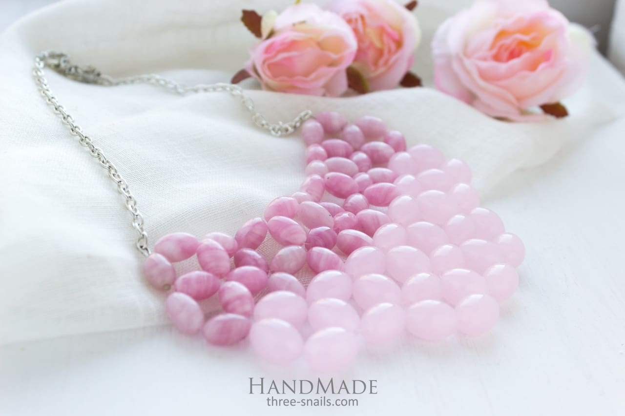 pink womens necklace