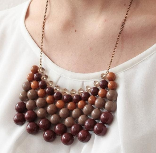 hand crafted bead necklaces