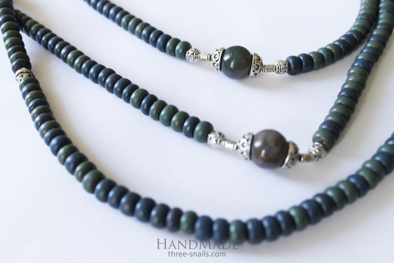 Beaded Necklaces Emerald Dance - Melnichenko1