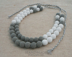 gray beaded necklaces