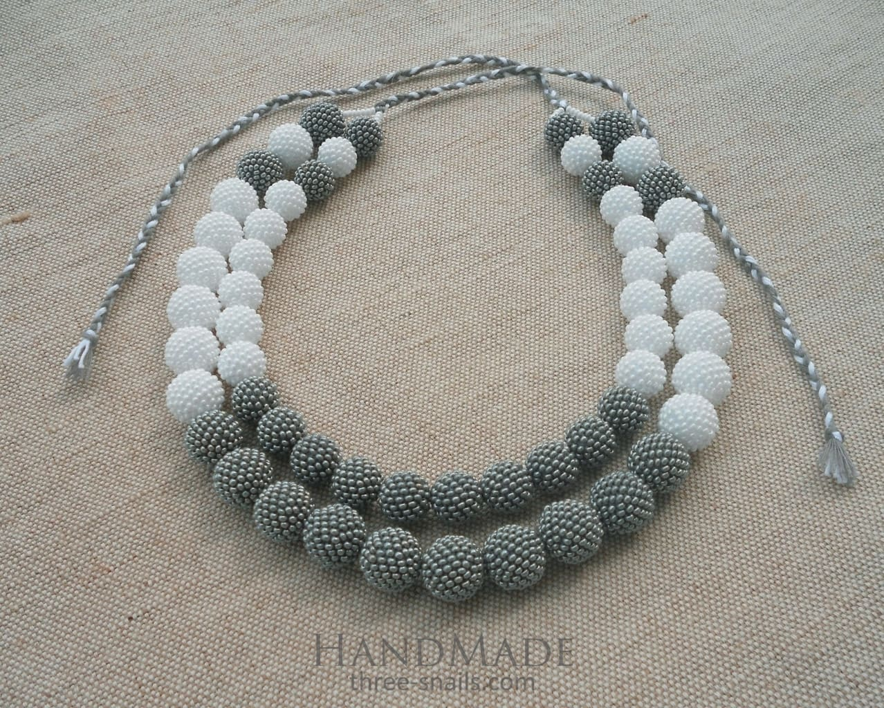"Beaded necklaces ""In smog"" - 1"