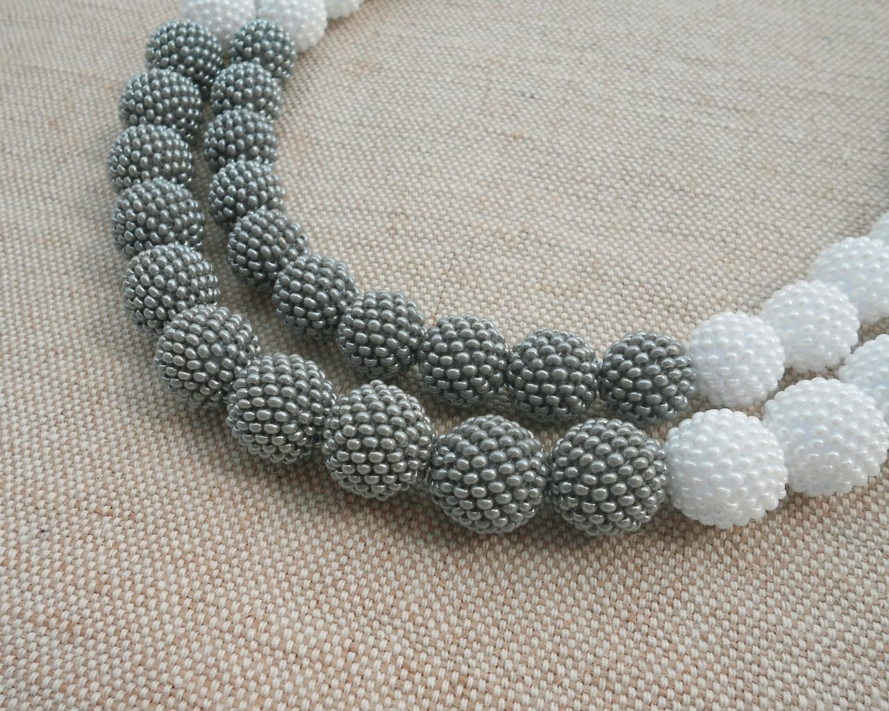 Beaded Necklaces In Smog - Melnichenko1