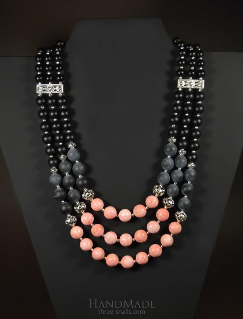 Beaded Necklaces Stone Imagination - Vasylchenko1