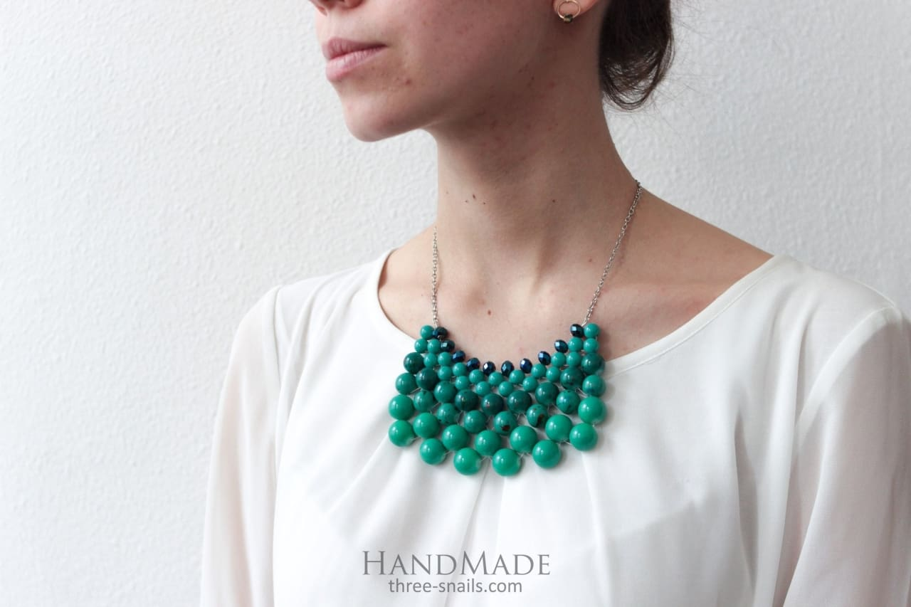 green necklaces online