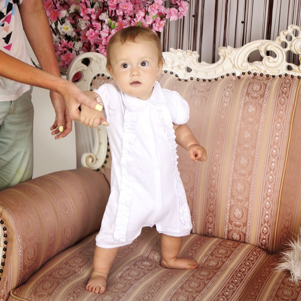 "Beautiful baby clothes for girls. Bodysuit ""Amur"" - 1"