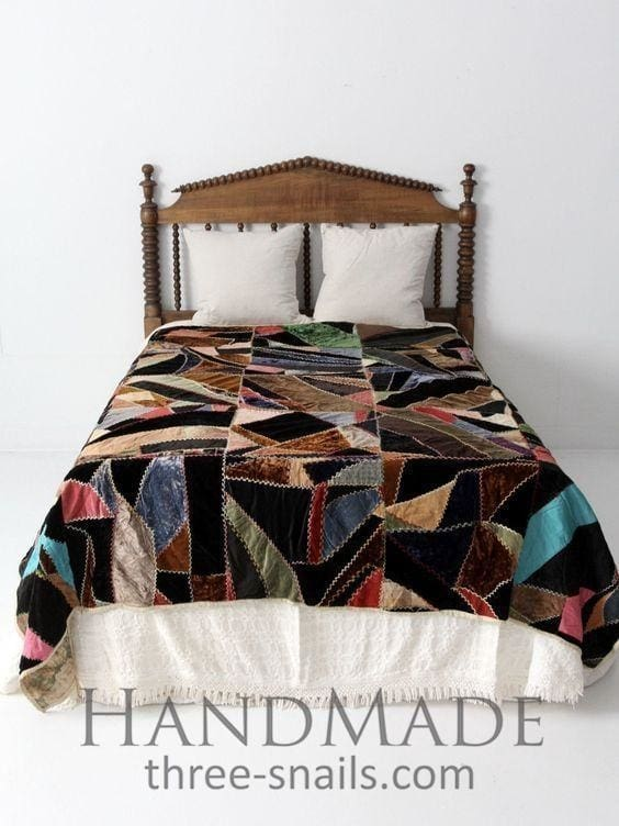 Bedroom Patchwork Quilt - Throw