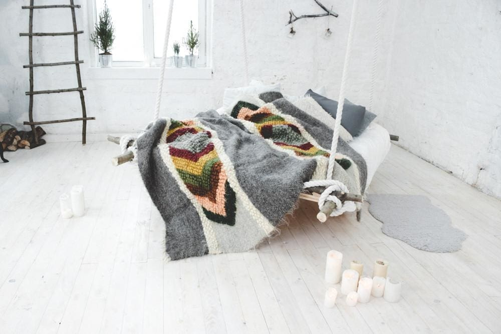 fluffy wool blanket