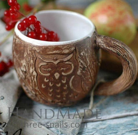 Big Coffee Mug Owl - Cup And Mug