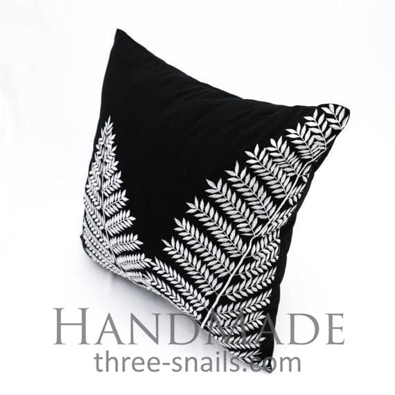 Black and white pillow case - 1