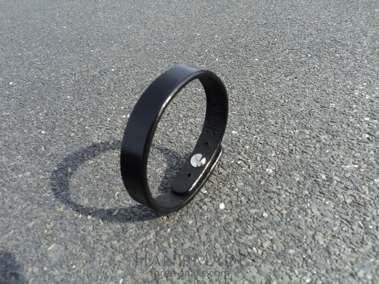 Black Leather Bracelet Infinity - Melnichenko1