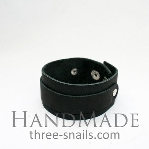 Black Leather Bracelet Wild Child - Melnichenko1