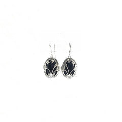 Black Onyx Earrings - Earrings