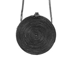 Black Rattan Ata Shoulder Bag - Bag