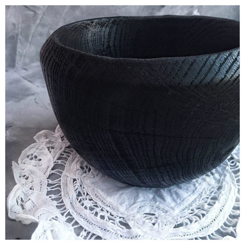 Black Wooden Bowl - Bowl